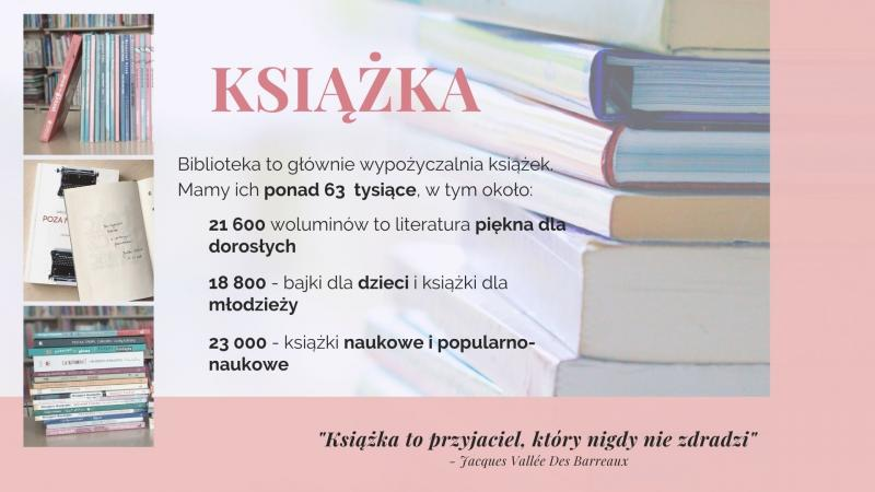 Część pierwsza prezentacji na Tydzień Bibliotek, znajdziesz mnie w bibliotece - książka