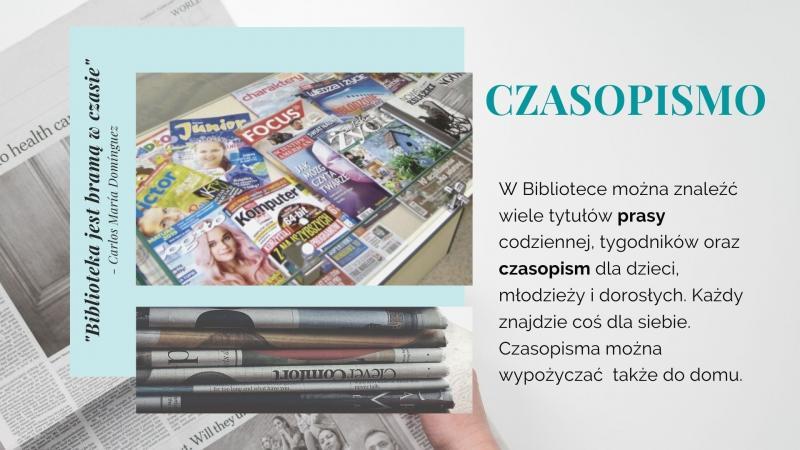 Część trzecia prezentacji na Tydzień Bibliotek, znajdziesz mnie w bibliotece - czasopismo