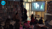 Kadr z prezentacji, relacja z Nocy Bibliotek 2021, gry i zabawy